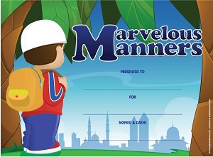 Marvellous Manners Certificate [10-pack]