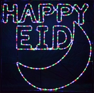 Happy Eid Indoor-Outdoor Giant LED Light