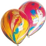Marble Rainbow Color Balloons 8-pack