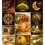 Designer Eid Sticker Sheet no 2 (gold)