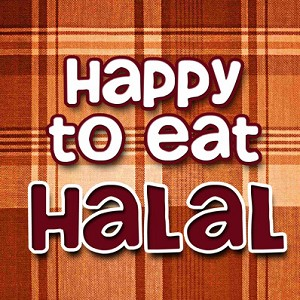 """Happy to Eat Halal"" Centerpiece Magnet"