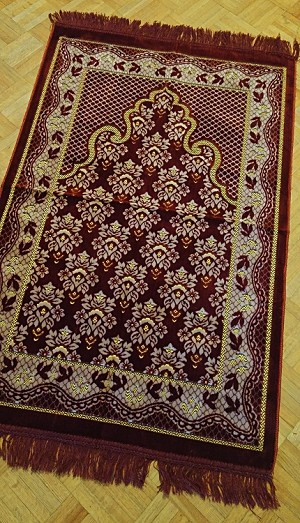 Prayer Rug - Deluxe Regular Deluxe Red-Burgundy