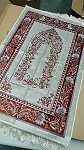 Prayer Rug - Fancy White with Silver Threading - With Border